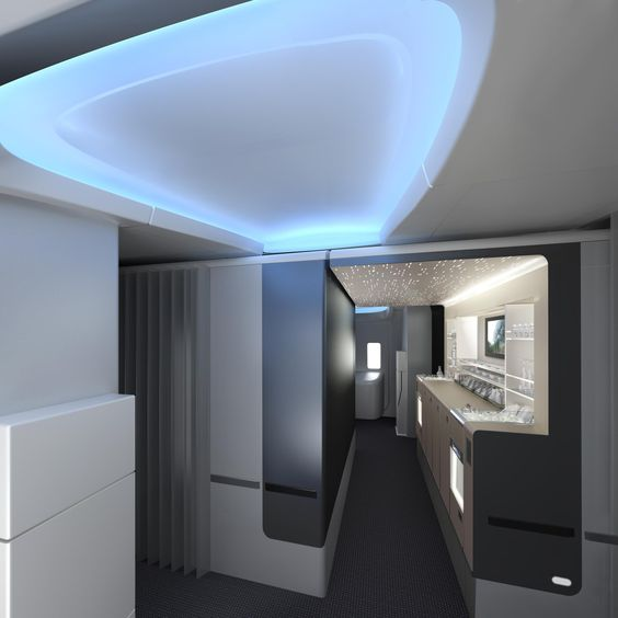 Aa S New 787 Dreamliner Premium Cabin Walk Up Snack And Drink Bar Aircraft Interiors American Airlines Boeing 777