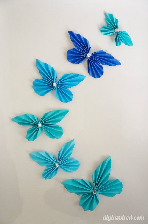 Diy accordion paper butterflies with astrobrights for Paper art butterfly