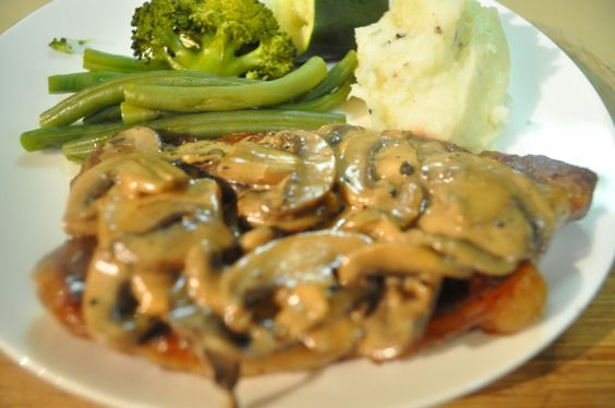 Make and share this Steaks in Mushroom Cream Sauce recipe from Food.com.