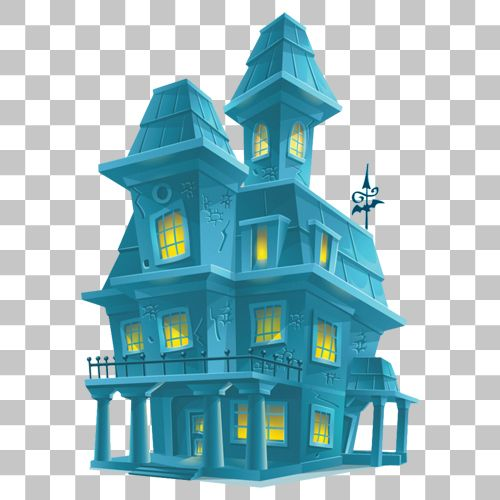 Haunted House Png Image With Transparent Background Haunted House Png Images Stock Images Free