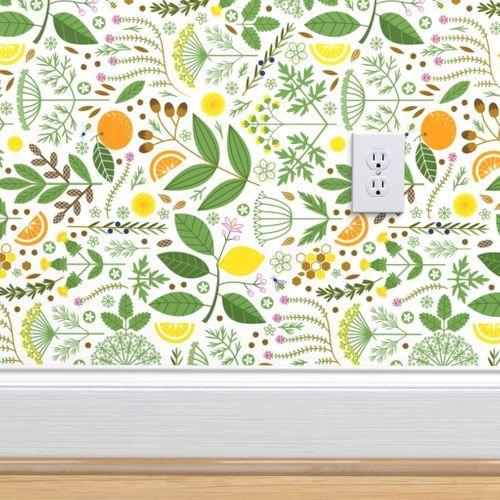 It S A Snap Botanical Railroad In 2021 Wallpaper Fruit Wallpaper Pantry Wallpaper