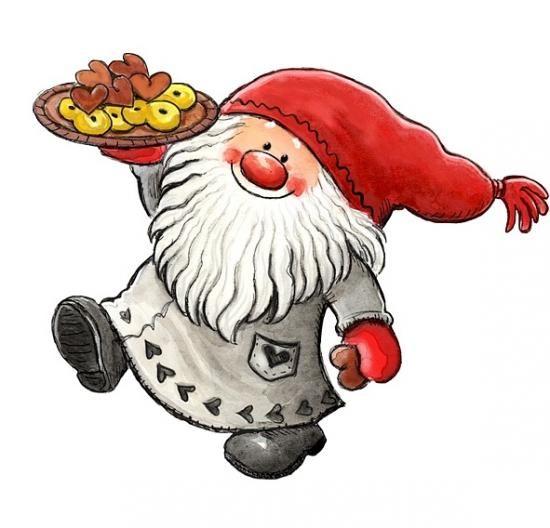 Sa gustafsson illustration julbilder kreatives pinterest clipart tags und kekse - Clipart weihnachtswichtel ...