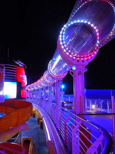 Ride on the AquaDuck on the Disney Dream!  aaaaaahhhhh, YEAH!!!! and i heard it goes over the side of the cruise so your over the ocean!!