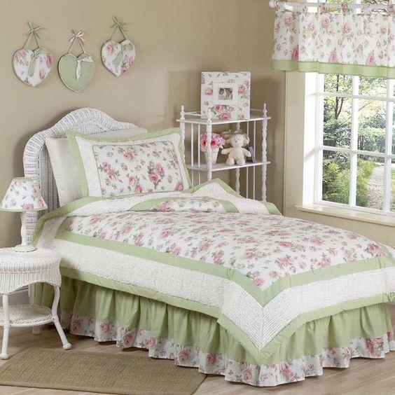"Sweet Jojo Designs Riley""s Roses Kid Twin Bedding Collection & Reviews | Wayfair"