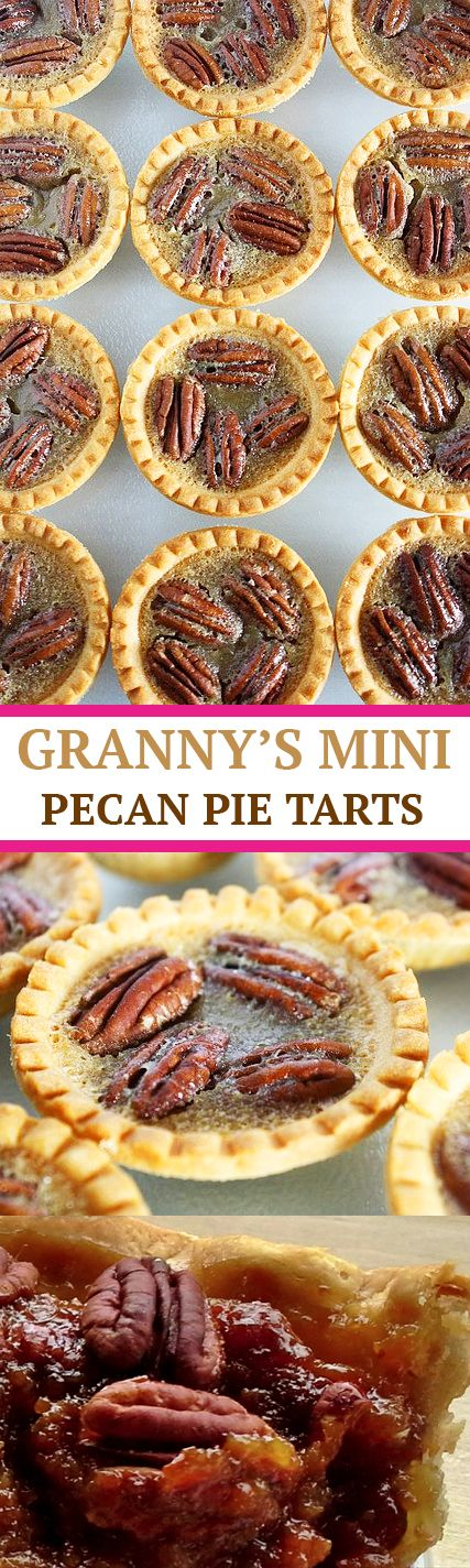 healthy grannys mini pecan pie tarts recipe easy better baking bible blog nuts walnuts muffin cups cupcake fall recipe snack butter easy