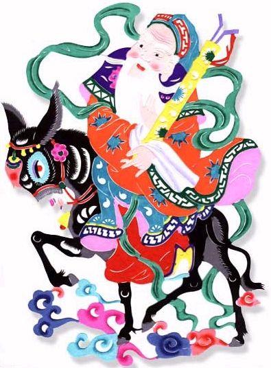 Cheung Guo Lao, representa a los ancianos, posee una mula que pude doblar y plegar como si fuese de papel y guardarla en su carpeta cuando no la utiliza. A menudo monta a su mula con la vista hacia atrás, en sus manos lleva unos palillos de hierro y un tambor de bambú con forma de tubo que simboliza la longevidad.