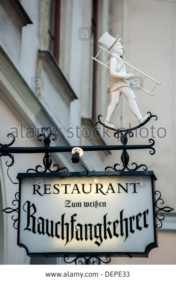 Österreich, Wien 1, Restaurant Zum Weißen Rauchfangkehrer Stock Photo, Picture And Royalty Free Image. Pic. 60730295