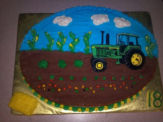 John Deere Cake by SugarArt Cakes by Kassie