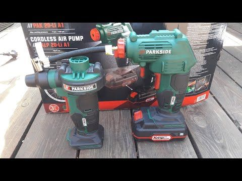Unboxing Kompresor Akumulatorowy Parkside Z Lidl Youtube Compressor Auto Repair Shop Air Pump