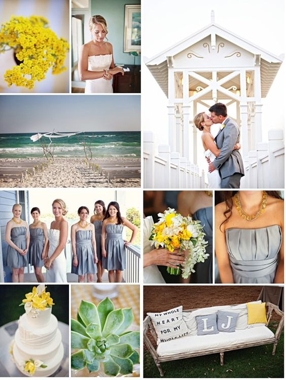 SMP Florida - Carillon Beach Wedding with Yellow & Gray Color Palette!