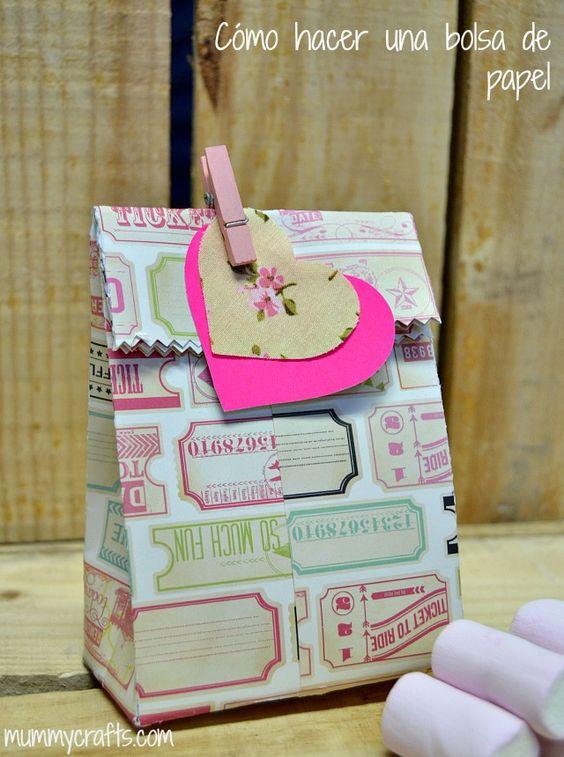C mo hacer una bolsa de papel para regalos packaging - Como hacer bolsas de regalo ...