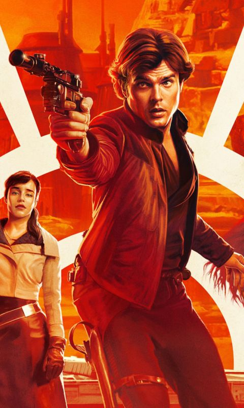 Solo A Star Wars Story Movie Poster 480x800 Wallpaper War Stories Movie Posters Star Wars