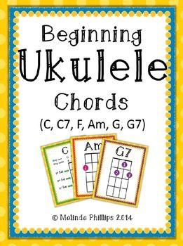Beginning Ukulele Chord Charts: C, C7, F, Am, G, G7