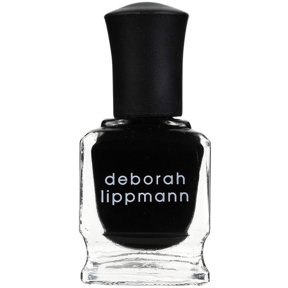 "DEBORAH LIPPMANN ""Fade to black"" nail lacquer found on Polyvore"