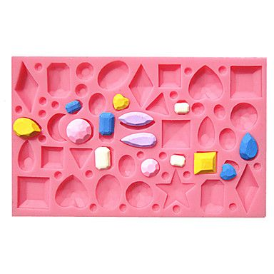 Mini Diamonds Jewel Gemstone Fondant Cake Molds Chocolate Mould For The Kitchen Baking For Sugar Candy – USD $ 4.99