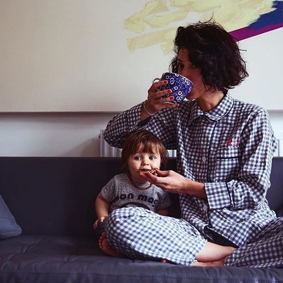 #AraksPJParty for two.  Monogram shop is now open!  RG @yasminsewell http://www.araks.com/products/kate-pajama-top-sea-organic-gingham-monogram