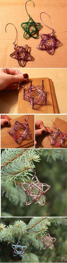 Handmade Star Wire Ornament - Alyssa and Carla More
