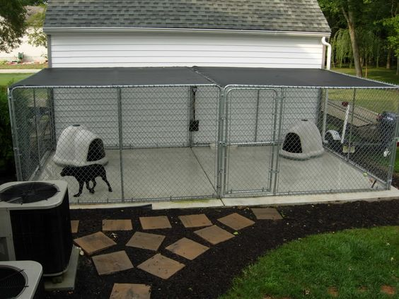 Temporary Dog Run : Backyard kennel for temporary stay while we are not home