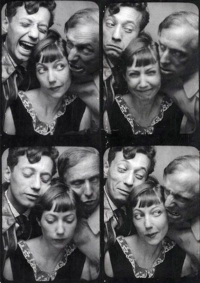 Jean-Aurenche,-Marie-Berthe-Aurenche-et-Max-Ernst from Artists' Photo booth . Surrealists and the Photomaton: