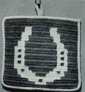 Horseshoe Potholder Free Crochet Patterns crochet ...