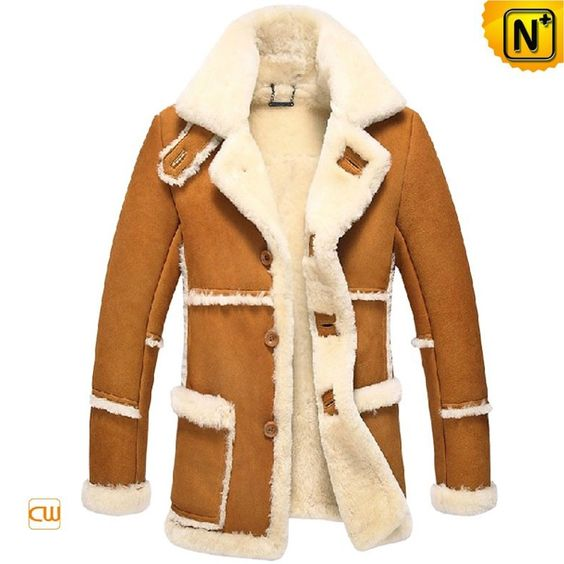 CWMALLS® Fur Trimmed Sheepskin Coat CW878258 - Shop fur trimmed