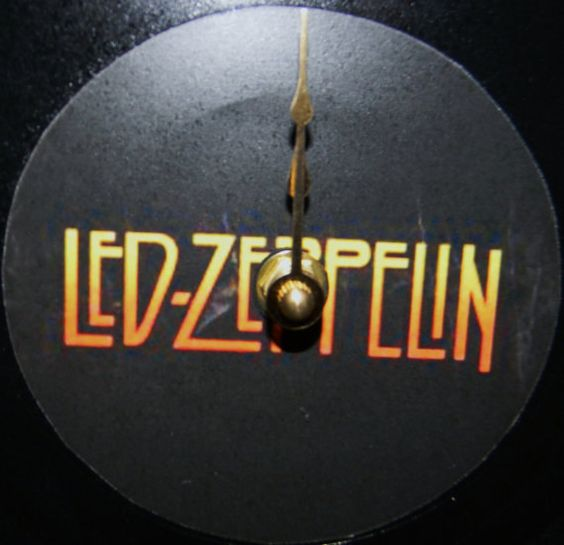 LED ZEPPELIN Orange Logo Vinyl Record Wall by PandorasRecordArt, $25.00