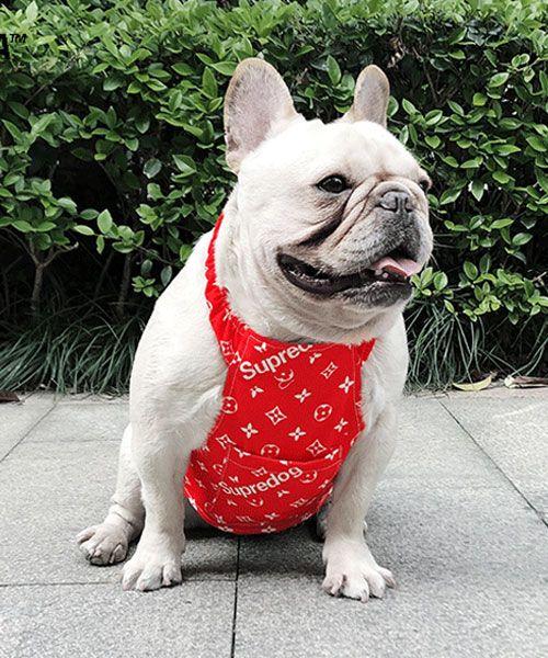 ルイヴィトン シュプリーム 犬服 夏用 冷感ベスト 犬 ペット ペット服