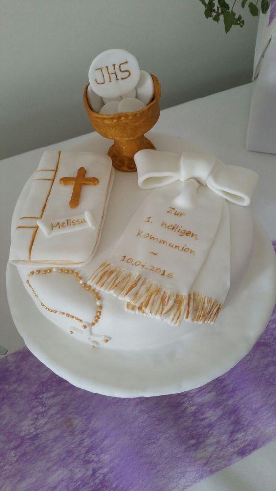 Kommunion Fondant Kuchen