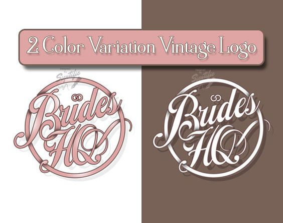 Vintage Round Logo with 2 Color Variation by SigntificDesigns