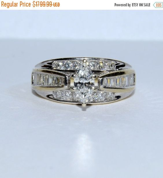 Hey, I found this really awesome Etsy listing at https://www.etsy.com/listing/267637158/on-sale-vintage-ladys-marquise-diamond