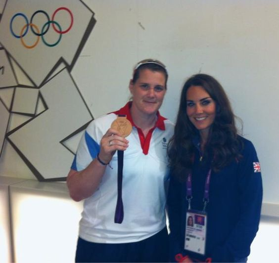 Karina Bryant Judo Olympic bronze medalist with Kate Middleton... I would train to be a gold medalist if it meant I could meet her :) <<<< TOTALLY!