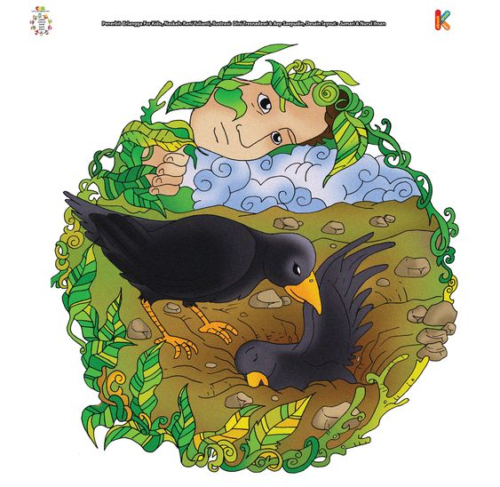 Gagak Memberitahu Qabil Cara Mengubur Habil Burung Gagak Gagak Burung
