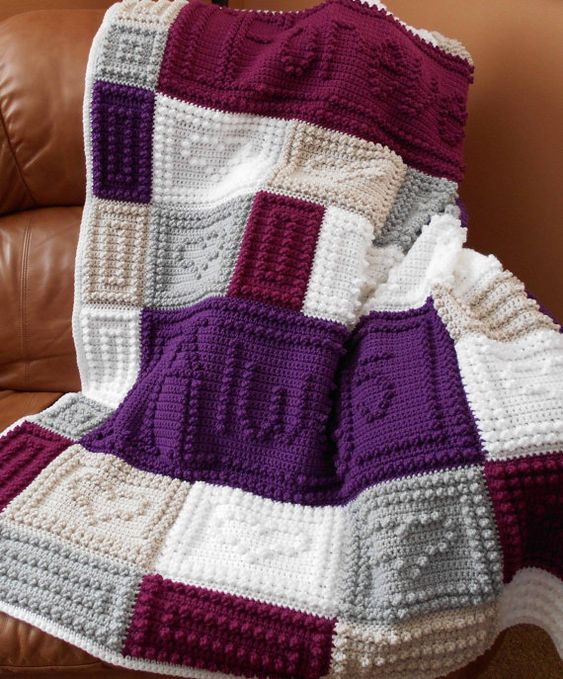 YOU and ME pattern for crocheted blanket Wedding ...