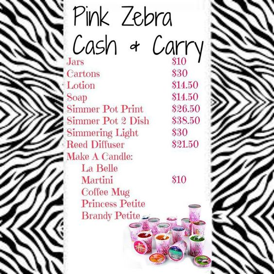 Cash and carry prices for pink zebra
