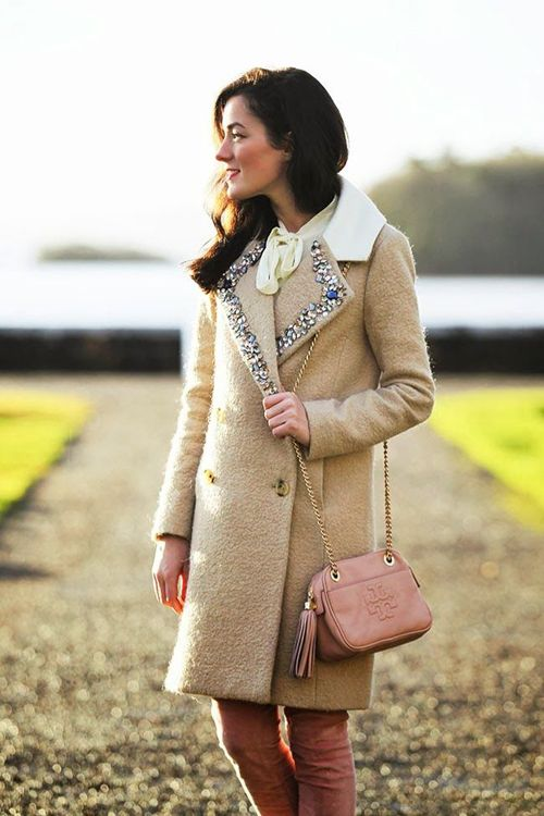 I am dying over this J Crew Collection coat. I wouldn't mind cold weather (as much) if I had this!
