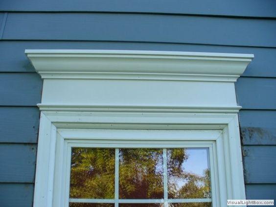 Exterior window molding curb appeal pinterest fotos for Exterior window design molding