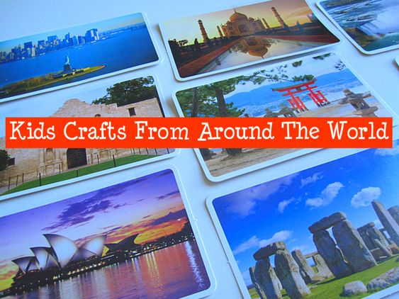 Kids Crafts from all around the world. How do you expose your kids to different cultures without a plane ride?