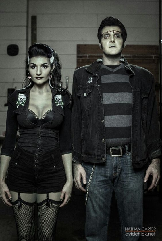 ♡♡Love this Frankenstein & his Bride whole Rockabilly look.♡♡