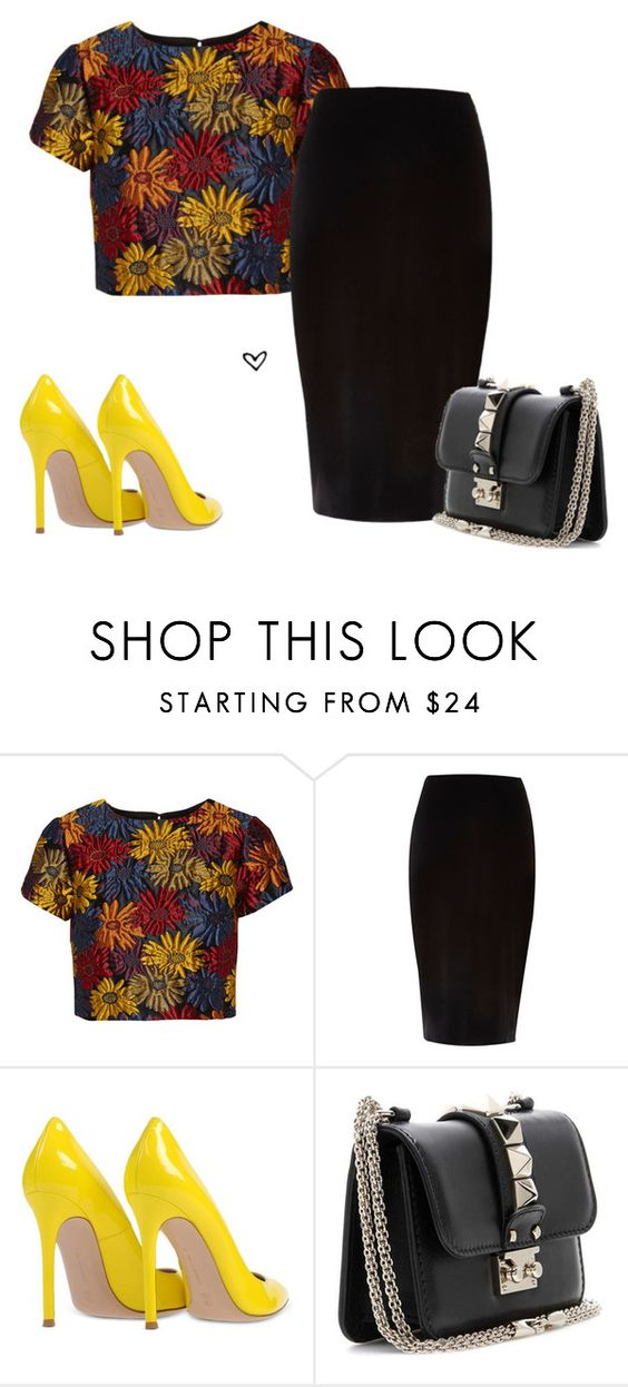 """""""Bez naslova #3854"""" by lillyrosalie ❤ liked on Polyvore featuring Alice + Olivia, River Island, Gianvito Rossi and Valentino"""
