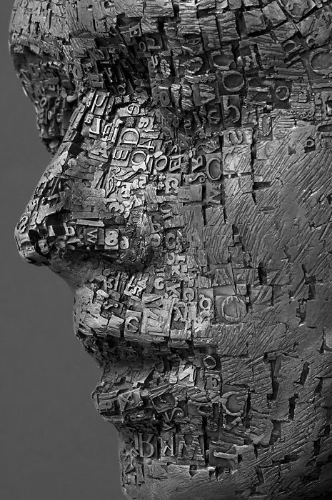 Metallic Sculpture : Palimpsest (detail) by Dale Dunning