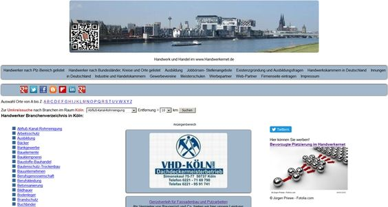 Handwerker Branchenverzeichnis in Köln.  http://www.handwerkernet.de/orte/k/koeln/index.html