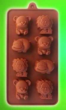 forma p/ cupcake, chocolate ou gelo animais
