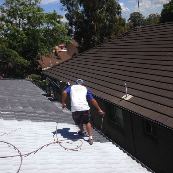 Our latest roof painting job....  (http://roofrestoration-sydney.com/)
