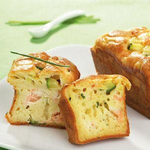 Norvege - Cake au saumon de Norvège, courgette et ricotta (Entree) - Recettes de Cuisine norvégiennes