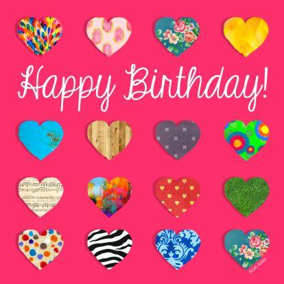 Happy Birthday! - Verjaardagskaart, gemaakt door Nicole Habets
