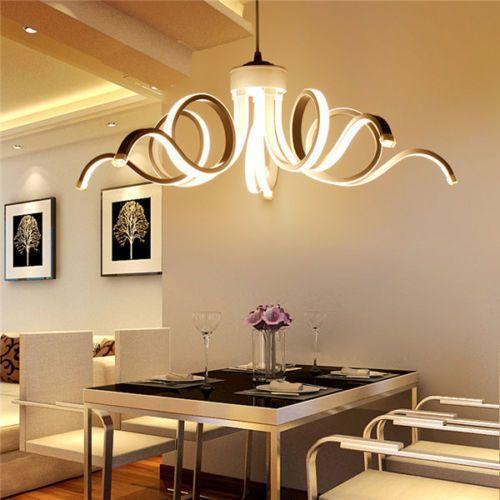 European Led White Ceiling Lamp Acrylic Chandelier Pendant Light Luminaire Yb19 Unbrande Living Room Lighting Dinning Room Lighting Dining Room Light Fixtures