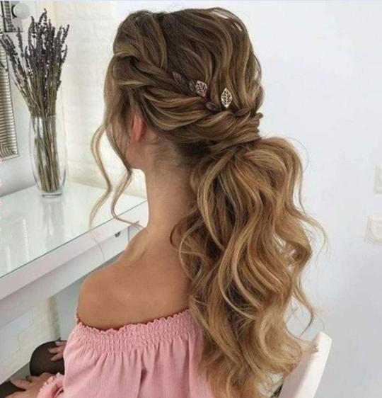 Ponytail Fshine Shop Bridesmaid Hair Long Thick Hair Styles Junior Bridesmaid Hair