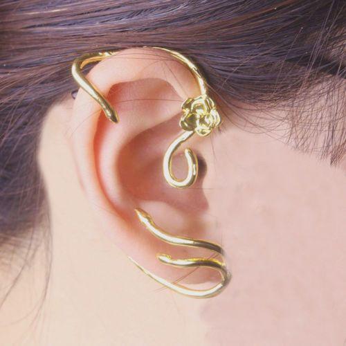Beauty and The Beast Earrings Ear Cuff Belle Rose Clip Earrings Film Jewel New