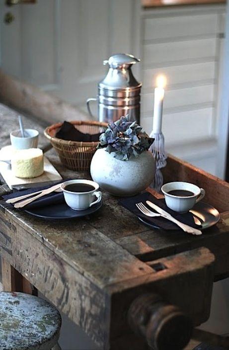Morgonkaffet ...passande för en söndagsmorgon, idag alltså!
