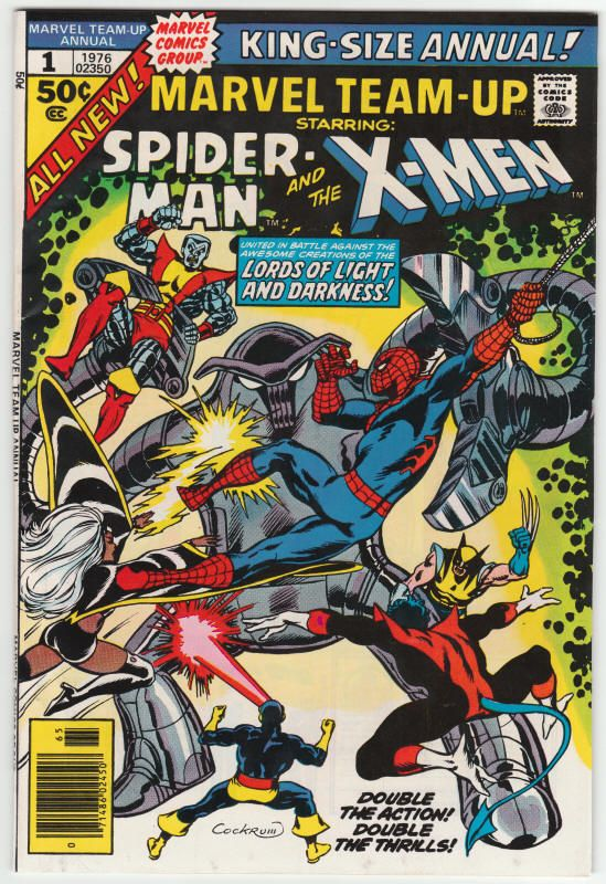 Marvel Team Up Annual 1 Vf Spider Man And The X Men Dave Cockrum Cover Art 17 50 Comics Marvel Comics Covers Marvel Comic Books